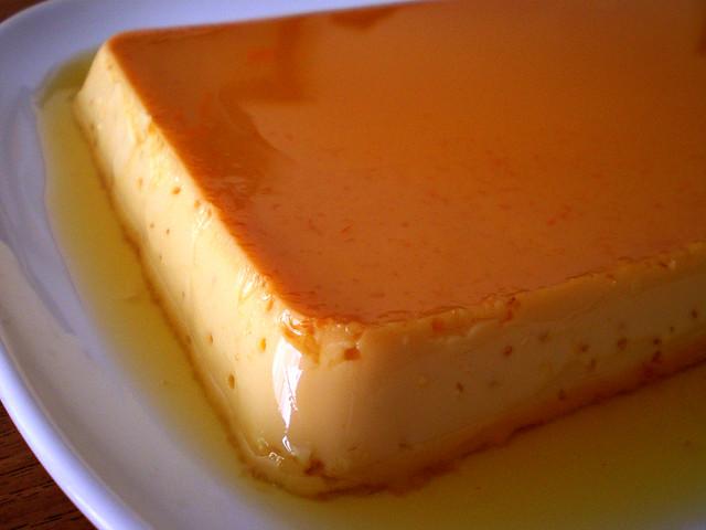 orange-scented leche flan