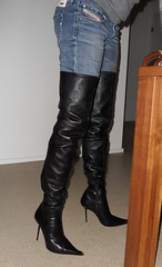 Rosina @home (Rosina's Heels) Tags: high boots thigh heels stiletto overknee