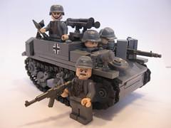 "Behold the glorious Tank Hunters! (""Rumrunner"") Tags: infantry army lego wwii captured german ww2 decal universal waterslide carrier axis bren worldwar2 mg42 brickarms panzerjger brickmania 731e"