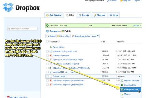 DropBox Public Folder - Copy public link