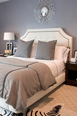 gray neutral bedroom - Erin V