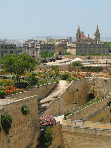 Valletta's defensive walls