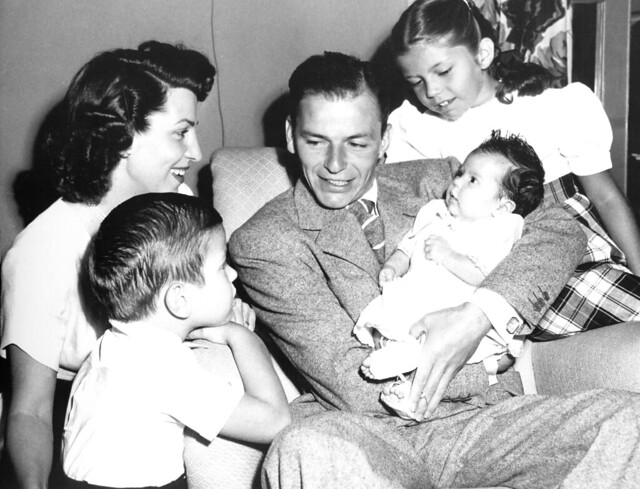 Frank Sinatra and his family