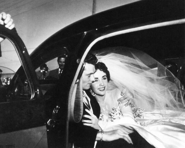 Conrad Hilton and Elizabeth Taylor