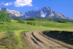 Road To Happiness (Aspenbreeze) Tags: road snow mountains nature rural colorado dirtroad peaks hdr ridgway mountainous aspenbreeze mygearandme mygearandmepremium mygearandmebronze bestofblinkwinners sniffelsrange