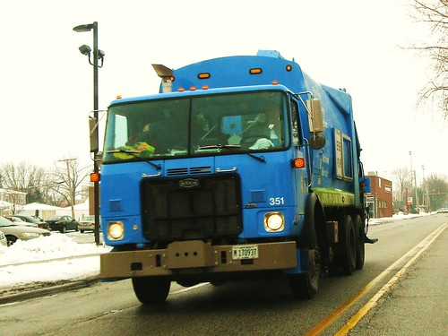City of Chicago Department Of Streets And Sanitation Autocar recycling garbage truck. Chicago Illinois USA. Monday, January 24th, 2011. by Eddie from Chicago