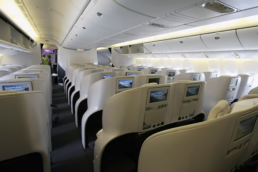 Air New Zealand Boeing 777-300ER Premium Economy Cabin