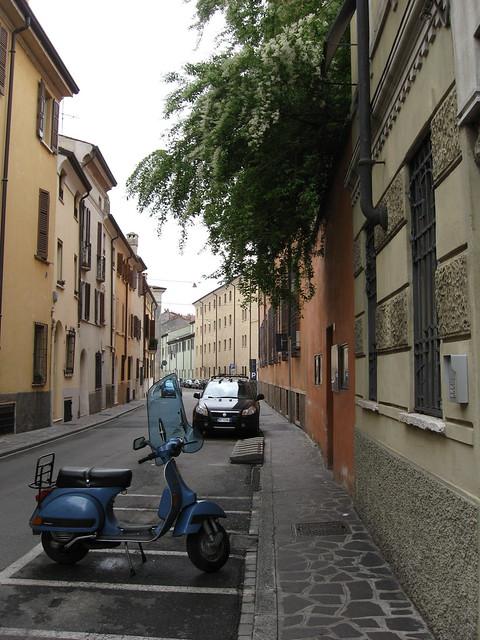 マントヴァの街角のフリー写真素材