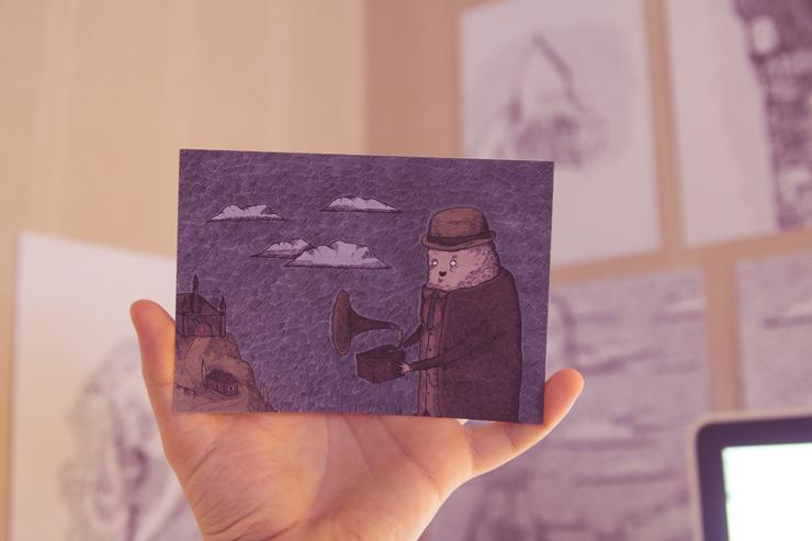 postcard print