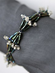 bugle beads in bracelet