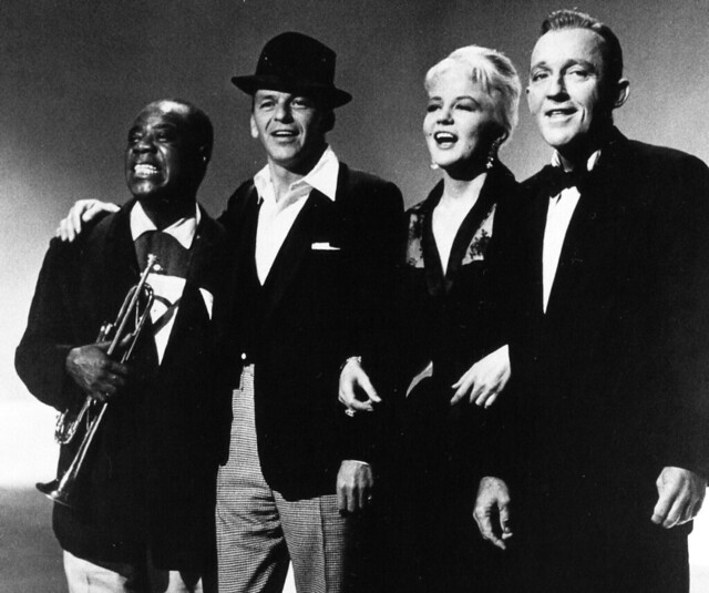 Louis Armstrong, Bing Crosby, Peggy Lee and Frank Sinatra