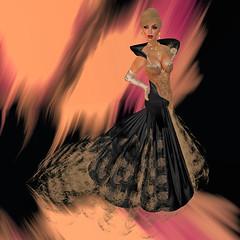 Satin & Lace (KymSara) Tags: fashion blog jewelry blonde blogged sequoia blackdress