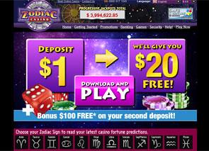 Zodiac Casino Home