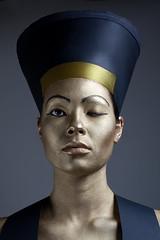 Nefertiti (Buldrock) Tags: portrait gold elmo helmet makeup ritratto egitto nefertiti cappello oro dea mua trucco buldrock