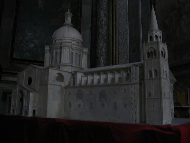 マントヴァの大聖堂の模型のフリー写真素材