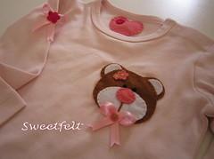 Para a Sara ... (sweetfelt \ ideias em feltro) Tags: pink baby rose body rosa f