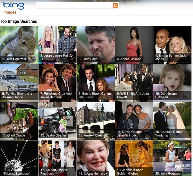 Bing Image Landing Page