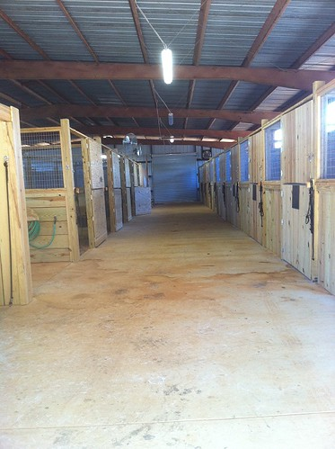 One of the two hallways in the new barn.