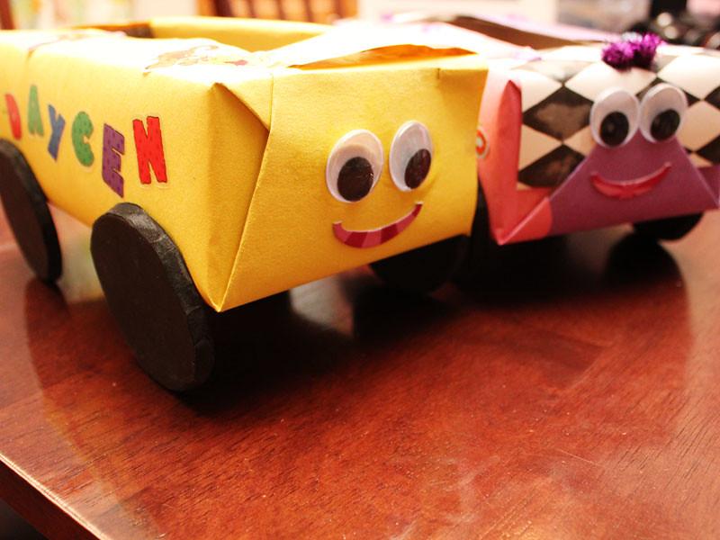 friday craft day : kleenex box cars