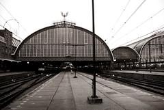 Where railways lead you to dream ... (Frank.O.Wolf) Tags: bw amsterdam train trainstation railways stazione treno binari monocromatico