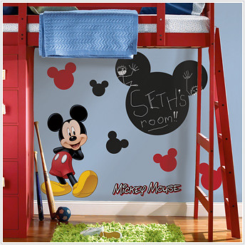 mickey mouse chalkboard stickers