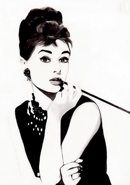 Audrey Hepburn by Amilka