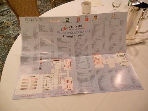 VINO 2011 Grand Tasting Map