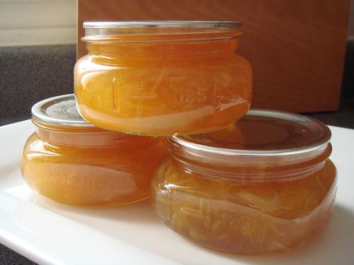 Meyer Lemon Marmalade: Bottled