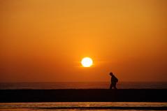 Farewell (LeaSc) Tags: ocean sanfrancisco california blue sunset sea sky orange usa sun black water silhouette yellow nikon unitedstatesofamerica d100