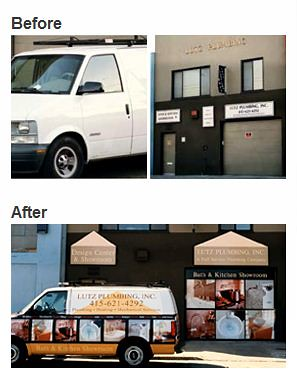 Sign Makeover Before and After