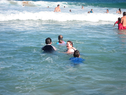 Swimming at Avalon Beach