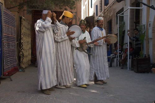 Photo of street musicians in Essaouira old city