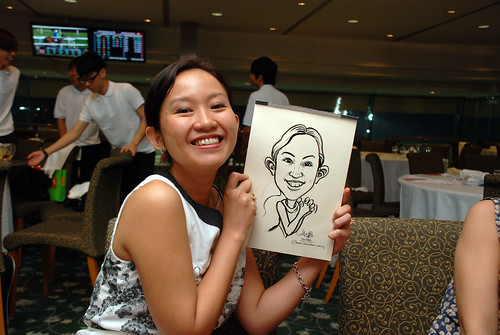 caricature live sketching for Thorn Business Associates Appreciate Night 2011 - 38