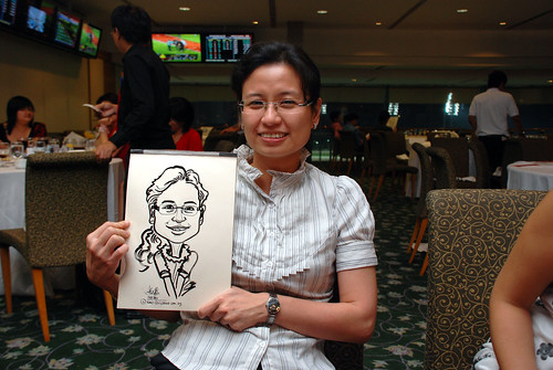 caricature live sketching for Thorn Business Associates Appreciate Night 2011 - 37
