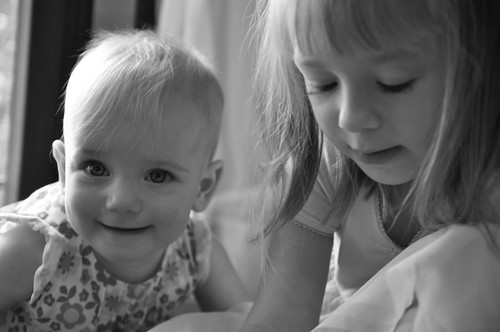 Avery and Isla B&W
