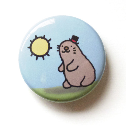 Groundhog Day Long Winter - Button 01.30.11
