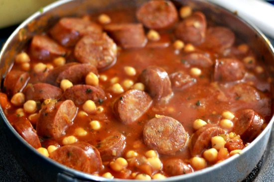 Garbanzos & Chorizo