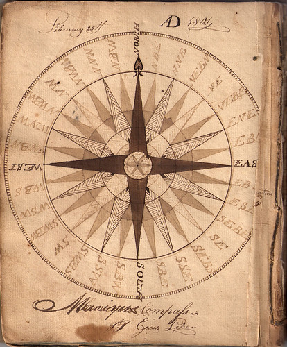 Hand drawn compass 1804