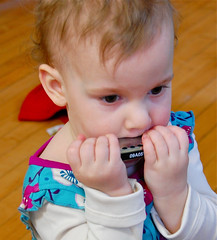 Age Two With Harmonica