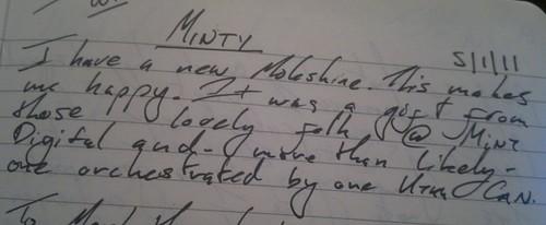 Minty Moleskines...