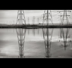 The National Grid (Billy Currie) Tags: tower industry water electric reflections grid scotland wire iron industrial power steel cable structure pole og national frame electricity shock generation conductor coastuk welcomeuk