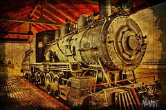 STEAMENGINE (alan57) Tags: photoshop montana digitalart rusty ironhorse billings photoshopelements alan57 visualmashups abduzeedos pse8