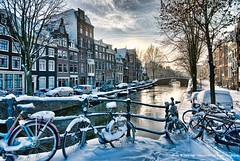 Winter in Amsterdam #6 (Marc Haegeman Photography) Tags: winter snow holland amsterdam bicycle nederland thenetherlands grachten hdr zuidholland nikond200 mygearandme mygearandmepremium