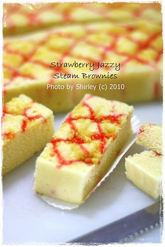 Strawberry Jazzy Steam Brownies (Brokus Stroberi)