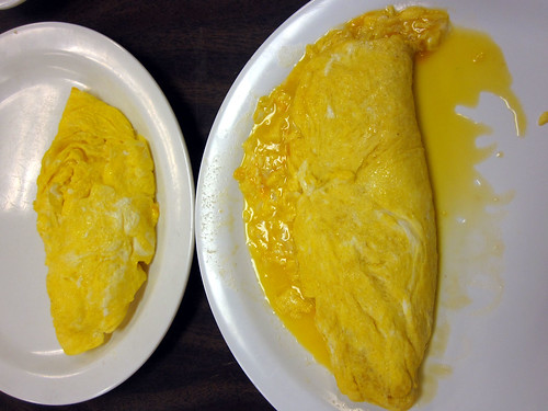 american vs. french omelette