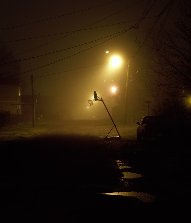 Night Work - Fog - Portland Oregon Photography