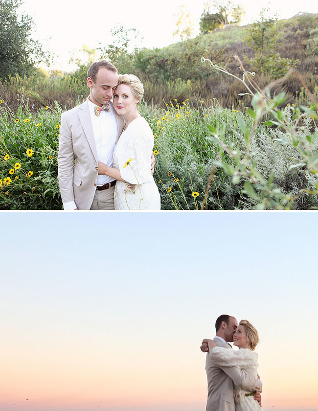 Real Wedding: Brittany + Paul's Whimsical Giant Flower Wedding