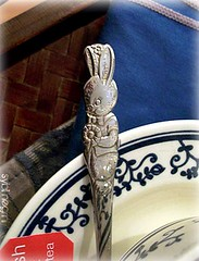evening tea (_Sybil_Negrini_) Tags: blue cute bunny cup tea spoon xcara colher  chdatarde