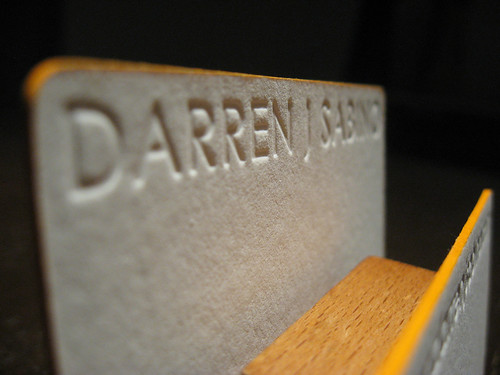 Letterpress Business Card - Darren Sabino