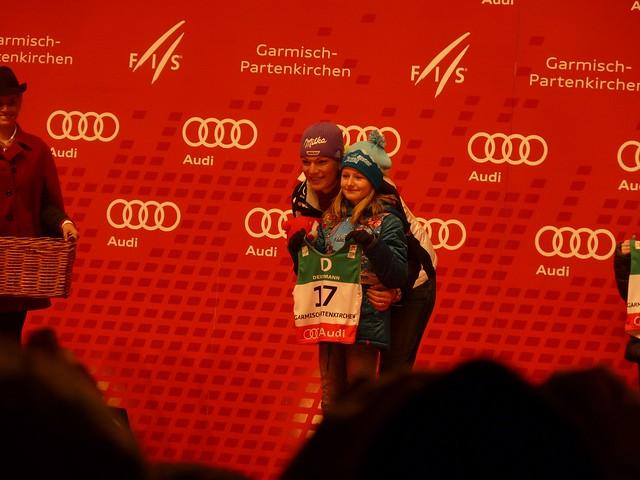 Maria Riesch bei der Nummernauslosung, Frauen - Ski-WM, Tag 6